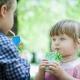 Children Drinking Juice Box