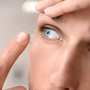 Man Putting in Contacts