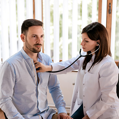 Male Check up with Doctor