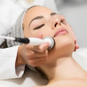 Woman Getting Skin Facial
