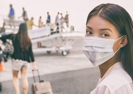 Asian Traveling with mask