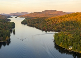 Lake Adirondack Park Mountains