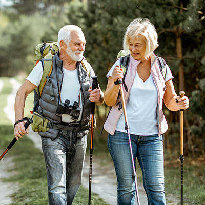 Elder Couple Hiking
