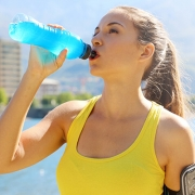 Athlete Drinking Power Drink