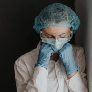 Medical Worker Anxious