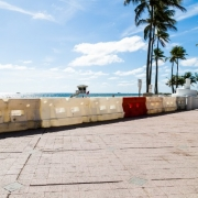 Empty Closed Florida Beach
