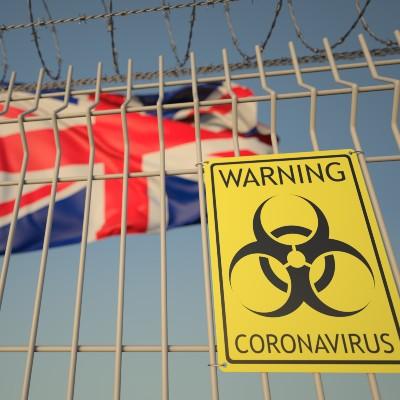 UK Coronavirus Warning Sign