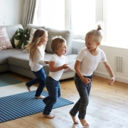 Kids Playing Freeze Dance