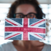 Woman with UK Mask