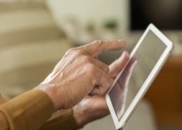 Elder Using iPad