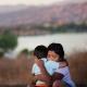 Immigrant Children Hugging