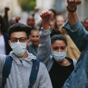 Protestors in the City