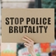 Stop Police Brutality Sign
