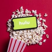 Hulu with Popcorn