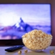Popcorn and Remote by TV