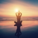 Mental Health Yoga on Beach