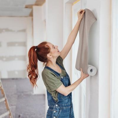 Woman Renovating Home