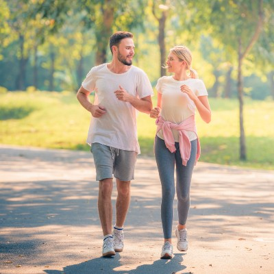 Couple Going for Walk