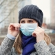 Girl in Face Mask in the Winter