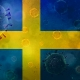 Covid-19 on Swedish Flag