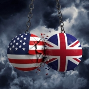 US & UK Trade Concept