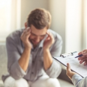 Man Struggling with Mental Health
