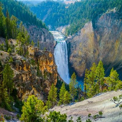 Great Falls in Yellowstone Great Falls in Yellowstone Great Falls in Yellowstone