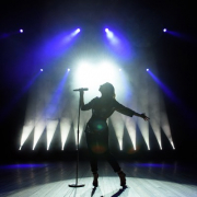 Female Singing on Stage