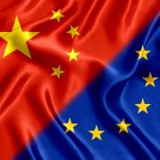 China & EU Flags