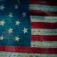 National Anthem on American Flag