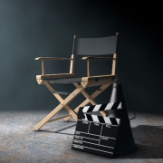Actor Chair on Set