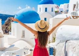 Woman Traveling in Greece